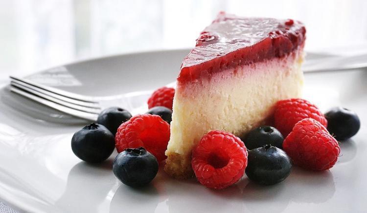 Cheesecake ai frutti di bosco a fine corso